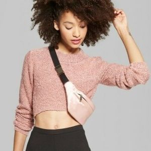 Sweaters - Cropped High-Low Pullover Sweater
